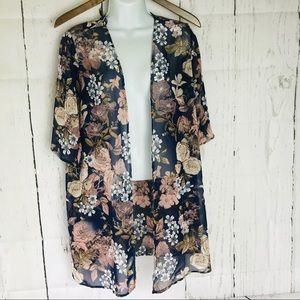 Kaiteigh Kimono floral blue,pink